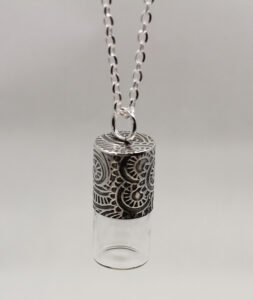 Textured Sterling Silver Essential Oil Pendant