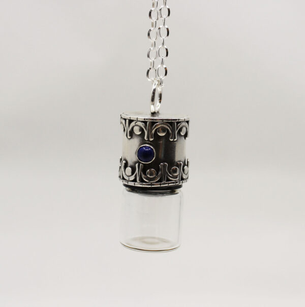 Lapis Sterling Silver Essential Oil Pendant