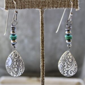 Ridge Mountain Teardrop Earrings