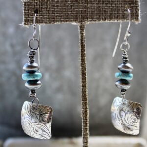 Navajo Earrings with Turqouise Jaspher and Sterling Silver Earrings