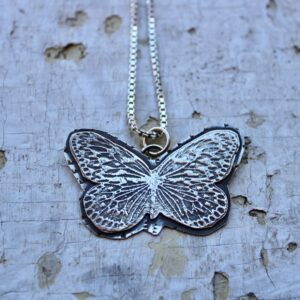 Textured Butterfly Pendant